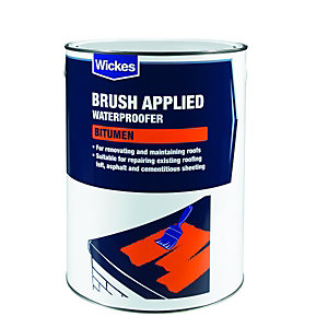 Wickes Brush Applied Bitumen Roof Waterproofer 5L