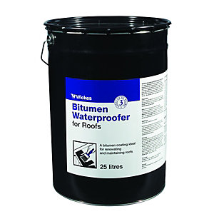 Wickes Brush Applied Bitumen Roof Waterproofer 25L