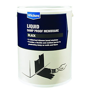 Wickes Bitumen Based Damp Proof Membrame Liquid 5L