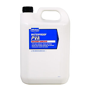 Wickes Waterproof PVA Building Adhesive 5L