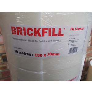 Fillcrete Expansion Joint Brickfill Roll 10mm x 150mm x 10m