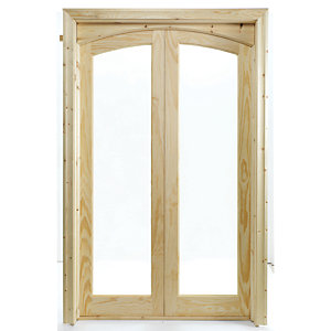 Wickes Newland Internal French Doors Glazed 2 Lite 2007 x 1218mm