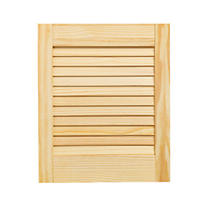 Wickes Internal Closed Louvre Door Pine 457 x 381mm