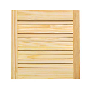 Wickes Internal Closed Louvre Door Pine 457X457mm