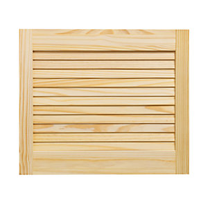 Wickes Internal Closed Louvre Door Pine 457 x 533mm