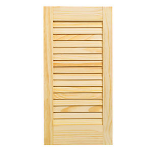 Wickes Internal Closed Louvre Door Pine 610 x 305mm