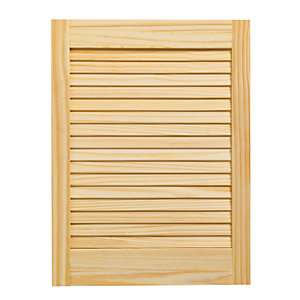 Wickes Internal Closed Louvre Door Pine 610 x 457mm