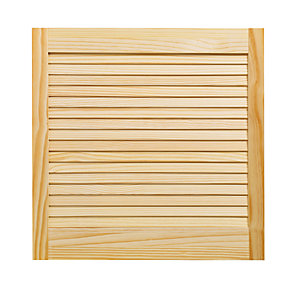 Wickes Internal Closed Louvre Door Pine 610 x 610mm