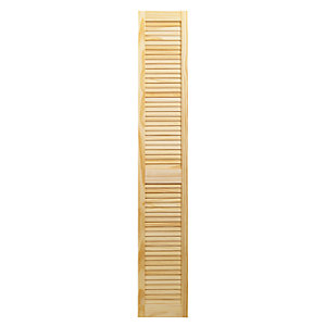 Wickes Internal Closed Louvre Door Pine 1829X305mm