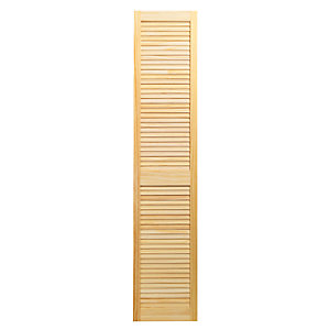 Wickes Internal Closed Louvre Door Pine 1829 x 381mm