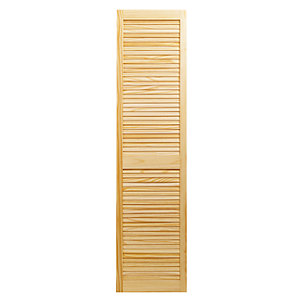 Wickes Internal Closed Louvre Door Pine 1829X457mm