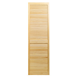 Wickes Internal Closed Louvre Door Pine 1829 x 533mm