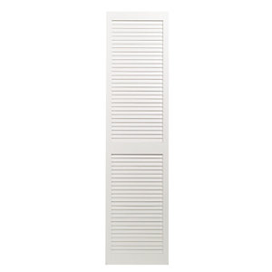 Wickes Internal Closed Louvre Door White Primed 1829X457mm
