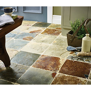 Wickes Multicolour Slate Wall and Floor Tile 300 x 300mm