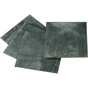 Wickes Grey Matt Slate Floor Tile 300x300mm