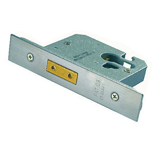 4FireDoors Mortice Deadlock Stainless Steel 76mm
