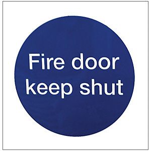 4FireDoors Fire Door Keep Shut Sign 70x70mm Pack 2
