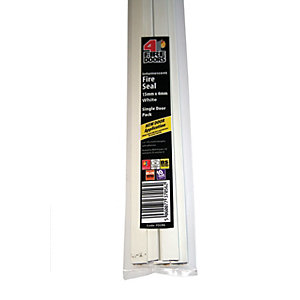 4FireDoors Intumescent Fire Seal White 15 x 4mm Single Door PK5