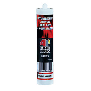 4FireDoors Intumescent & Acoustic Acrylic Sealant Brown 310ml