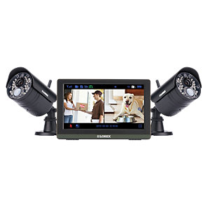 Lorex LW2772HUK 7inCH 720P Hd LCD 4 Input with 2 Bullet Camera Sd Recording Wireless Cctv Kit