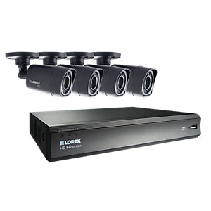 Lorex LHV00081TC4P 720P Hd 4 Input with 4 Bullet Camera 1TB Recorder Cctv Bundle