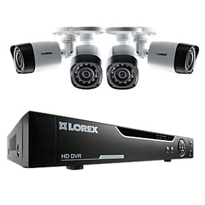 Lorex LHV10041TC4P 720P Hd 4 Input with 4 Bullet Camera 1TB Recorder Cctv Bundle