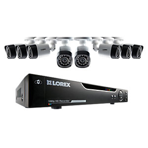Lorex LHV21082TC8P 1080P Hd 8 Input with 8 Bullet Camera 2TB Recorder Wired Cctv Bundle