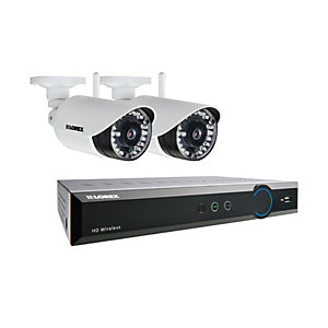 Lorex LH04141TC2WP 720P Hd 4 Input with 2 Bullet Camera 1TB Recorder Wireless Cctv Bundle