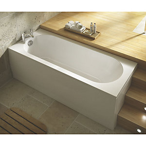 Wickes Terenzo Reinforced Single Ended Bath 1700mm