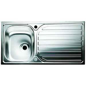 Wickes Single Bowl Reversible Kitchen Sink Stainless Steel