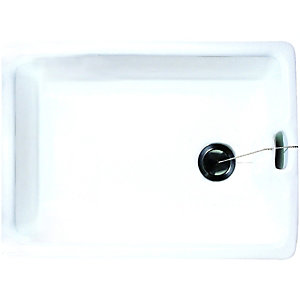 Wickes Belfast 1 Bowl Kitchen Sink Ceramic White