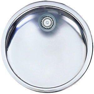 Wickes Round Drainer Polished Stainless Steel