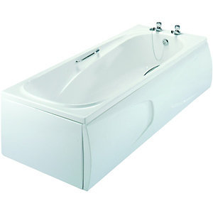 Wickes Gripped Bath White 1685mm