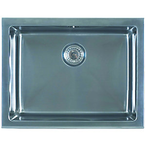 Wickes Belfast Kitchen Sink Pack Stainless Steel