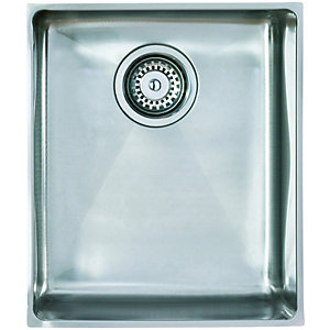 Medium 1 Bowl Flush Inset Sink Ss