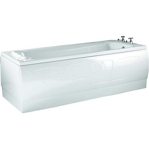 Wickes Ancona Shell Effect Bath White 1700mm