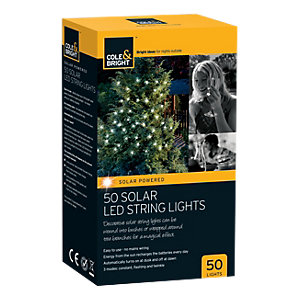 Image of Cole & Bright 50 Solar LED String Lights