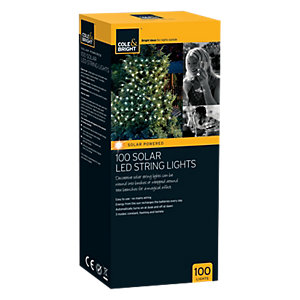 Cole & Bright 100 Solar LED String Lights
