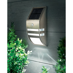 Cole and Bright Stainless Steel Solar Motion Sensor Wall Light