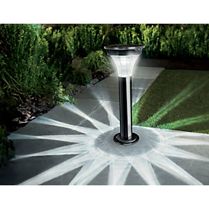 Cole & Bright Solar Motion Sensor Black Nickle Post Light