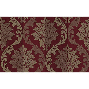 Superfresco Splendour Decorative Wallpaper Red/Cream 10m