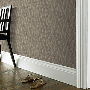Superfresco Sway Decorative Wallpaper Taupe 10m