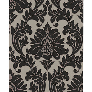 Superfresco Easy Majestic Decorative Wallpaper Black/Gold 10m