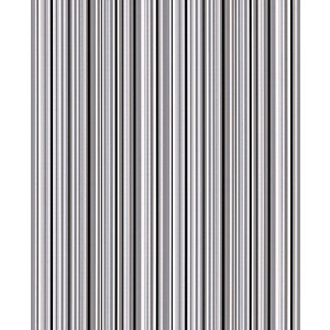 Contour Barcode Linear Kitchen & Bathroom Wallpaper Black/White 10m