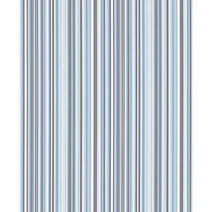 Contour Barcode Linear Kitchen & Bathroom Wallpaper Blue/White 10m