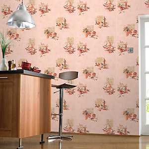 Contour Cuisine Kitchen & Bathroom Wallpaper Beige 10m