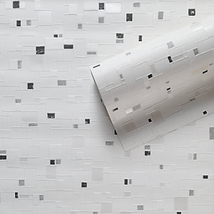Contour Spa Kitchen & Bathroom Vinyl Wallpaper Black/White 10m