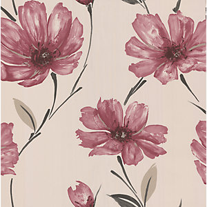 Graham & Brown Spirit Decorative Wallpaper Ruby 10m