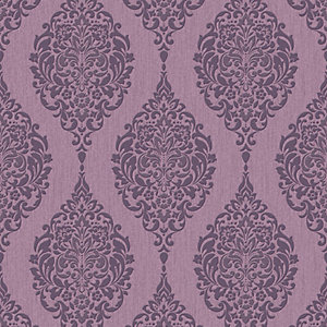 Superfresco Colour Luna Decorative Wallpaper Plum