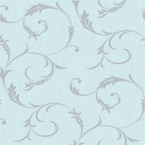 Superfresco Colour Athena Decorative Wallpaper Duck Egg